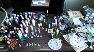 The painting desk