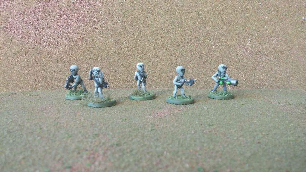 Gray Aliens from Crossover Miniatures