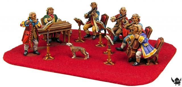 painted 28mm orchestra