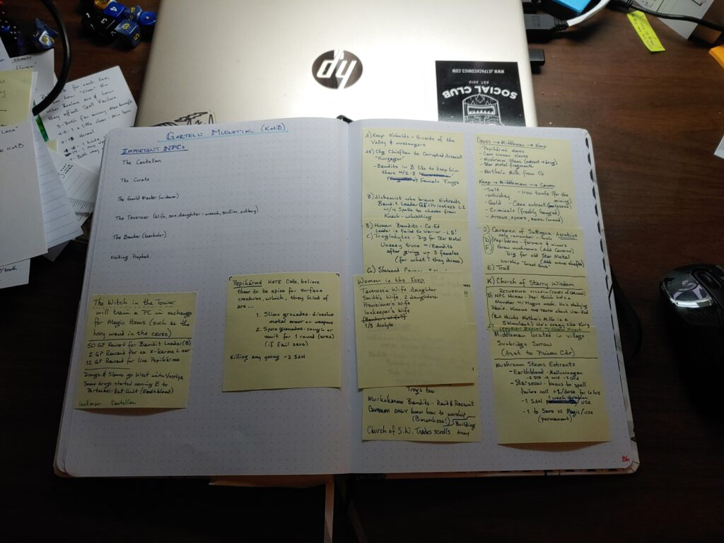 campaign notebook process
