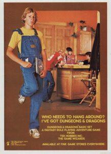 retro advert for D&D