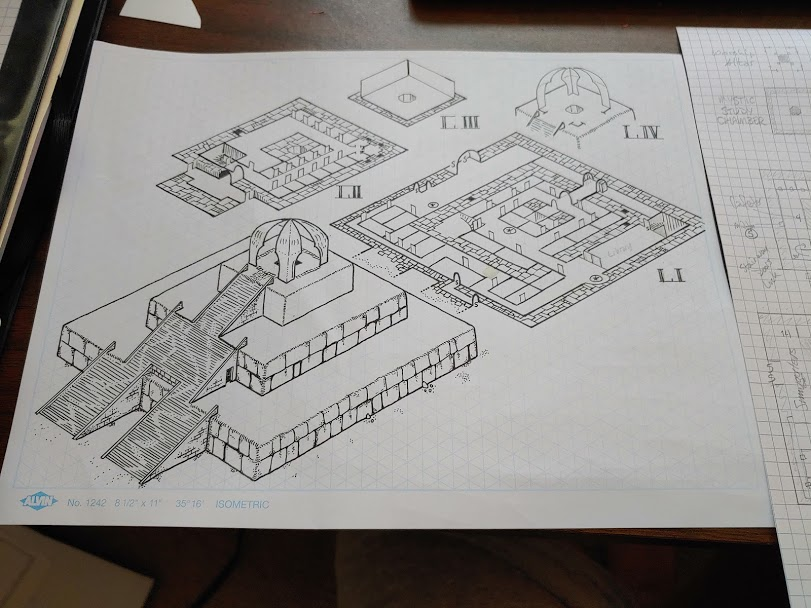 Isometric Ziggurat temple map