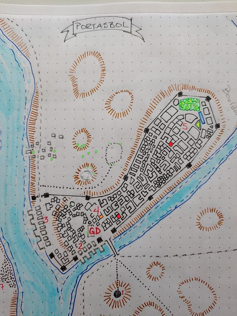 Portasbol town map - Tower of Zenopus