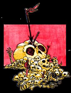 """Skull Pile llustration by Alex Damaceno @gnarledmonster """""""