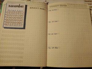 Monthly Spread #BuJo Bullet Journal