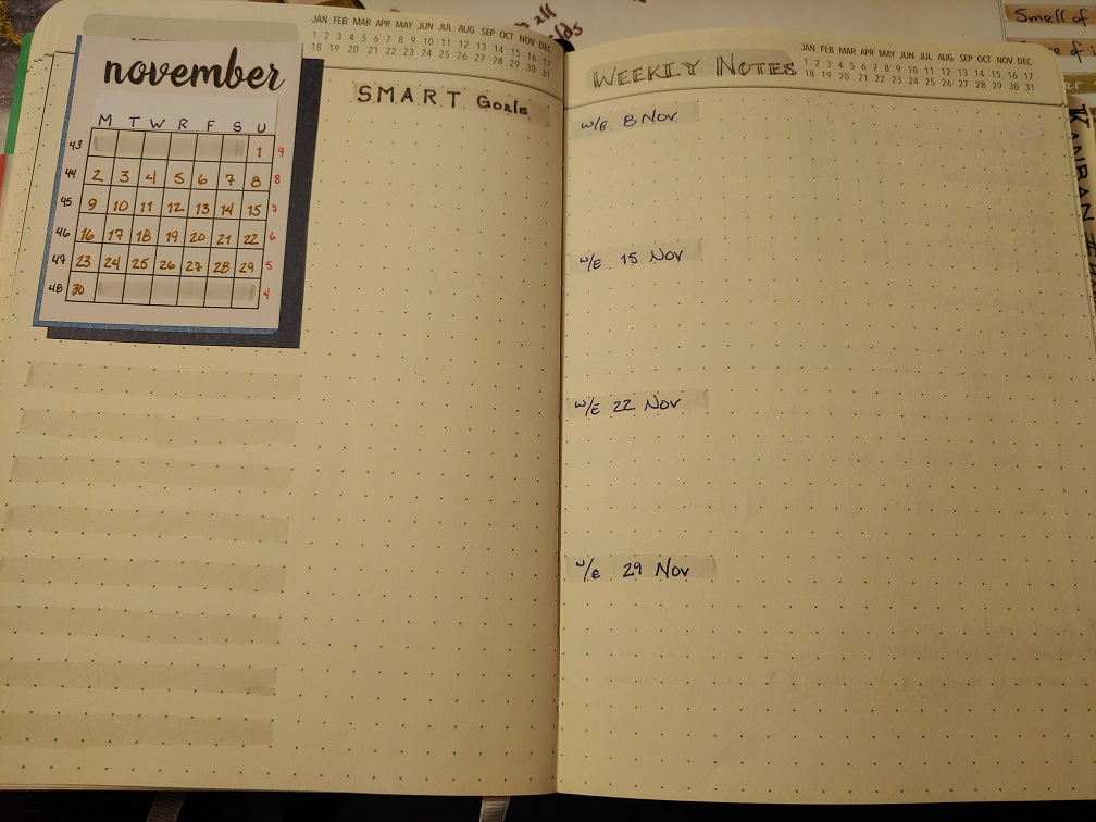 Monthly Spread #BuJo Bullet Journal