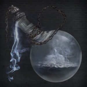 potion bottle filled with liquid smoke
