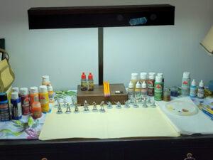 Temp painting setup