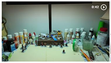 Miniature painting setup