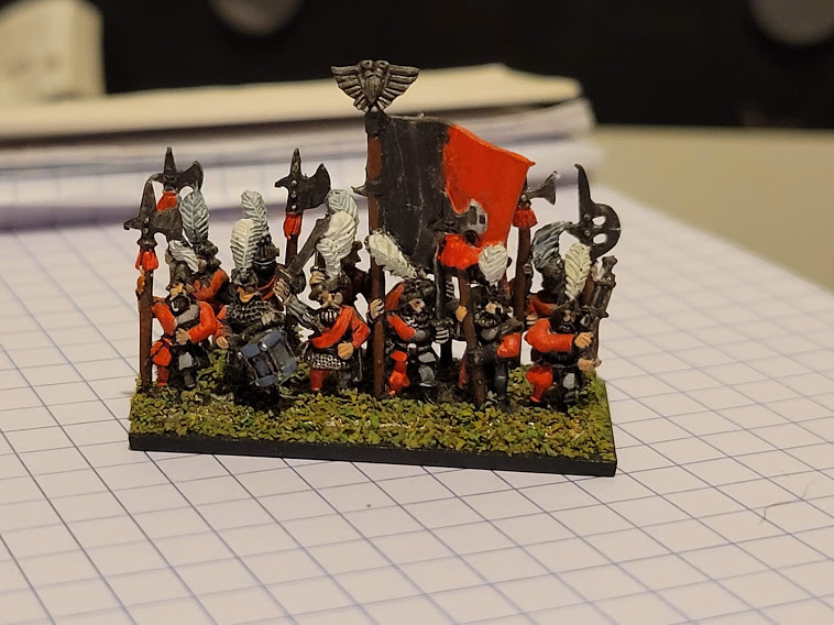 10mm Warmaster Empire halbardiers
