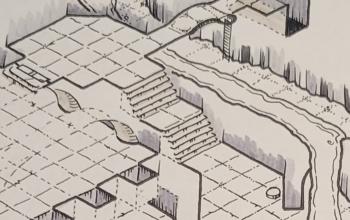 isometric dungeon path