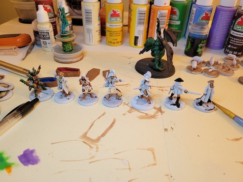 Pirate's Alley All Female League resin miniatures 28mm